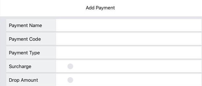 Adding Payment Menu